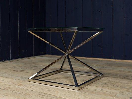 Beistelltisch glas chrom  Vintage Beistelltisch aus Glas & Chrom