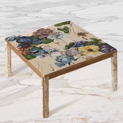 Model 1 Funeral 2 Faces Hand Painted Coffee Table By Atelier Miru