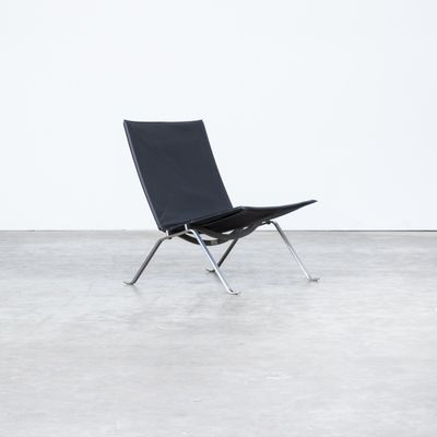 Astounding Pk22 Black Leather Lounge Chairs By Poul Kjaerholm For Fritz Hansen 1980S Set Of 2 Pabps2019 Chair Design Images Pabps2019Com