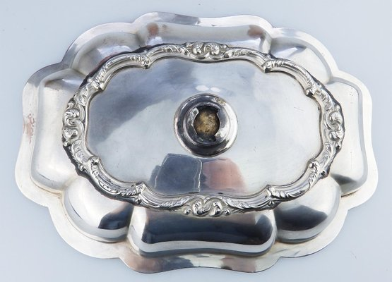 Silver Plated Venison Dish from Walker, Knowles and Co, 1840s