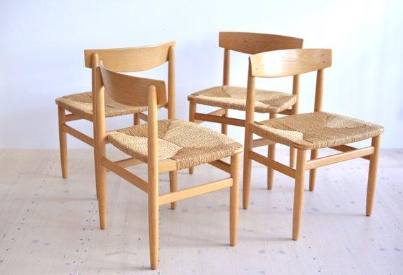 Incroyable Table Shaker Et Chaises De Salle à Manger Oresund Mid Century Par Borge  Mogensen Pour