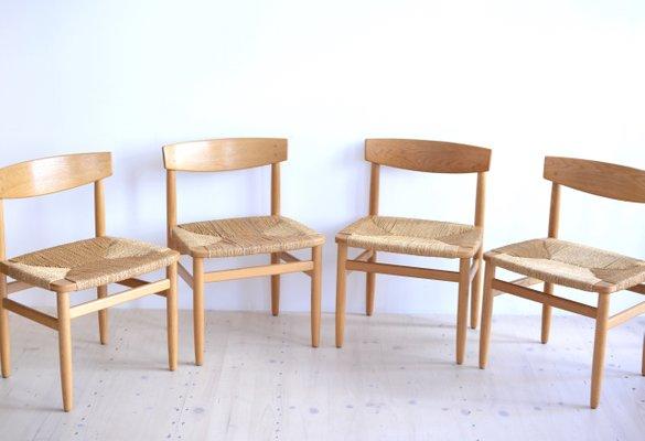 Attirant Table Shaker Et Chaises De Salle à Manger Oresund Mid Century Par Borge  Mogensen Pour