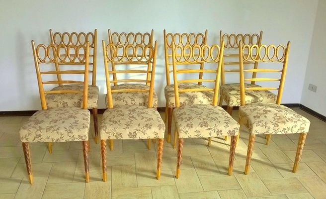 Sedie da pranzo in faggio di Atelier Borsani Varedo, anni \'40, set ...