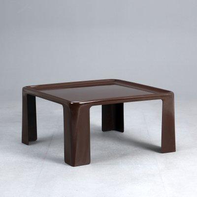 Tavolino vintage in fibra di vetro marrone di Mario Bellini per C ...