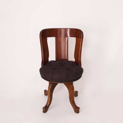 Antique Swivel Desk Chair 1 - Antique Swivel Desk Chair For Sale At Pamono
