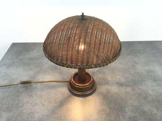 Lampe de bureau en rotin s en vente sur pamono