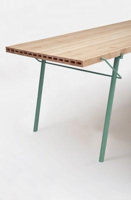 Alveo Outdoor Tisch Mit Massivholzplatte Mit Wabenstruktur