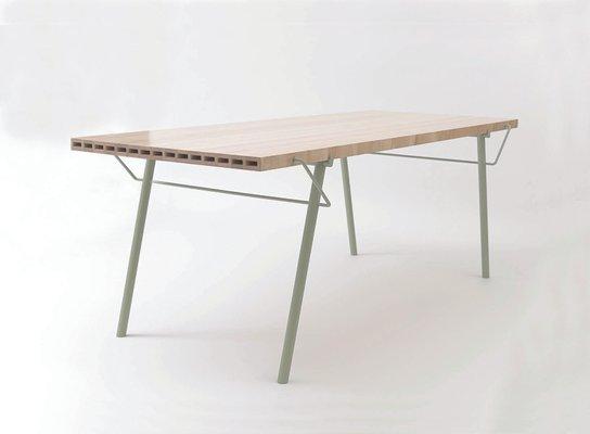 Ripiani In Legno Per Tavoli : Tavolo da esterno alveo con ripiano in legno massiccio in vendita