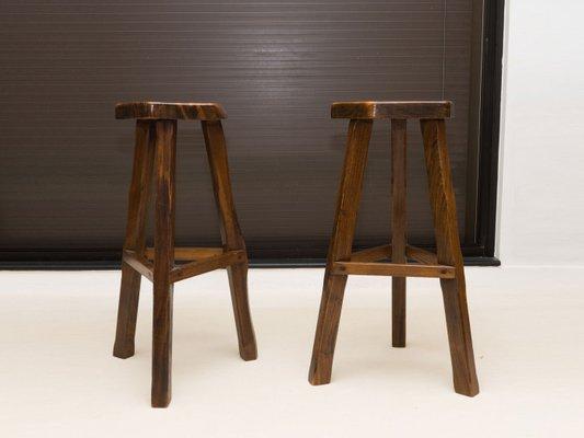Sgabello In Legno Design : Sgabelli in legno di olmo massiccio di olavi hänninen per mikko