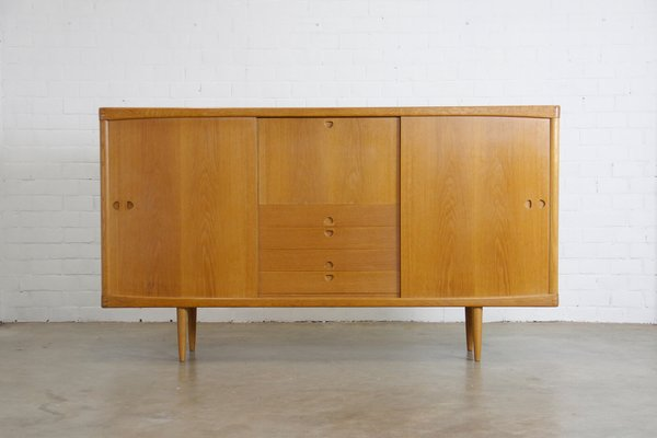 Mid Century Danish Oak Sideboard By Hw Klein For Bramin For Sale