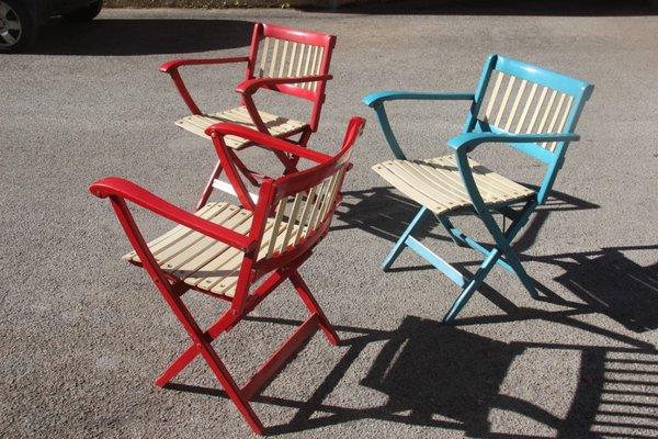 Sedie Da Esterno Colorate.Sedie Da Giardino Pieghevoli Colorate Di Fratelli Reguitti Anni
