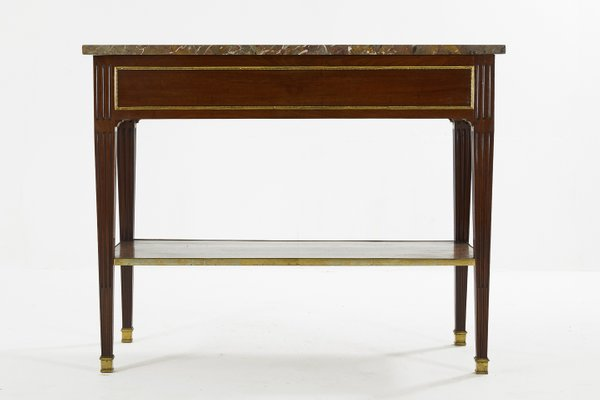 Charmant Antique French Mahogany Console Table