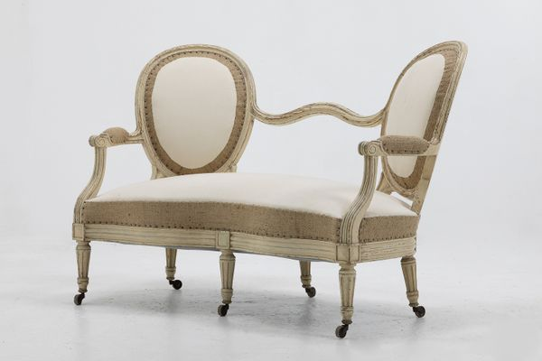 19th Century French Painted Sofas Set Of 2 3