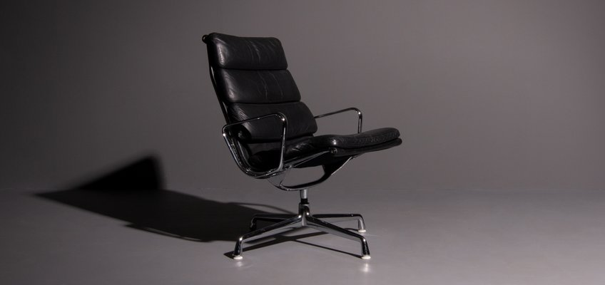 Strange Vintage Model Ea 216 Softpad Black Lounge Chair By Charles Ray Eames For Herman Miller Cjindustries Chair Design For Home Cjindustriesco