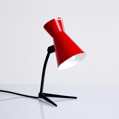 Vintage Red Table Lamp 1960s For Sale At Pamono