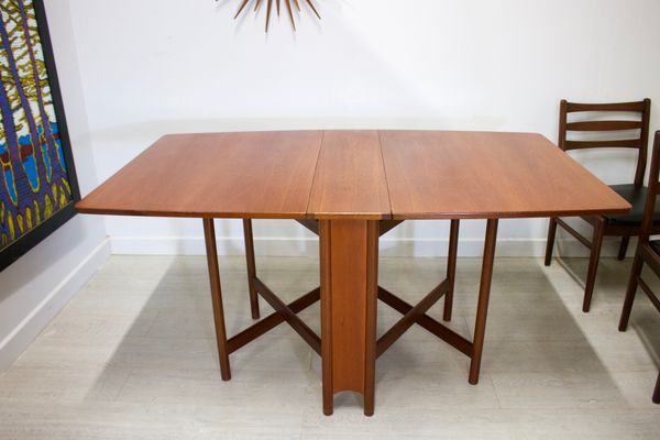 Mid Century Teak Drop Leaf Dining Table Chairs Set From Mcintosh Bei