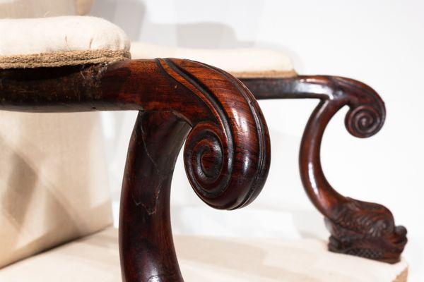Antique Rosewood Chair 4 - Antique Rosewood Chair For Sale At Pamono