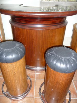 Art Deco Tail Bar With Two Stools 2