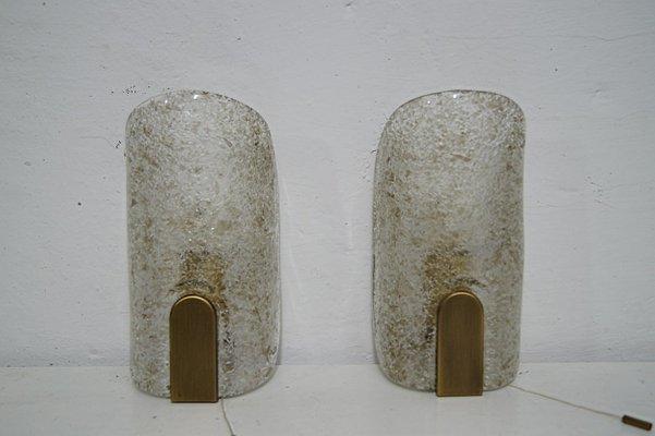 Applique da parete in vetro di murano di hillebrand lighting anni