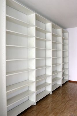 Large White Bookshelf By Ulrich P Wieser For Wohnbedarf 1980s 2