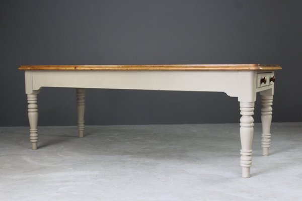 d7b0eccd937ed Large Antique Pine Kitchen Table 6