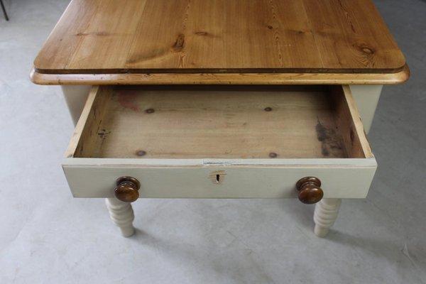 55d1061f406e6 Large Antique Pine Kitchen Table 4