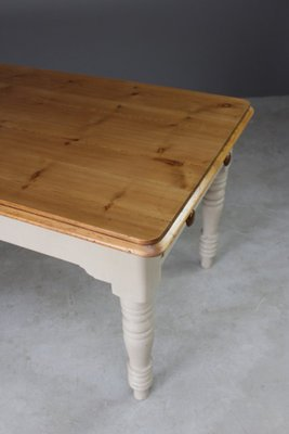 ee48214be3e53 Large Antique Pine Kitchen Table 3