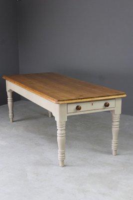 cb789730f2e5b Large Antique Pine Kitchen Table 7