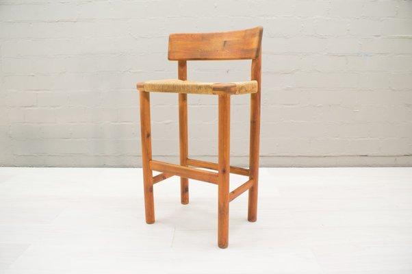 Skandinavische Barhocker aus Holz 1960er 2er Set 1