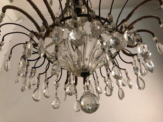 Kronleuchter Mit Glasperlen ~ Vintage kronleuchter mit kristallglasperlen bei pamono kaufen