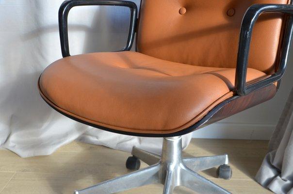Sedie Da Ufficio In Pelle : Sedia da ufficio vintage color cognac in pelle di ico parisi per
