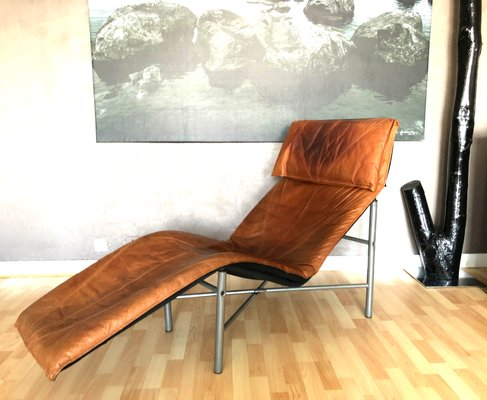 Vintage Cognac Leather Lounge Chair By Tord Bjorklund For Ikea 1