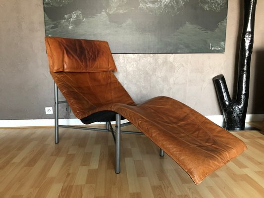 Vintage Cognac Leather Lounge Chair By Tord Bjorklund For Ikea 2