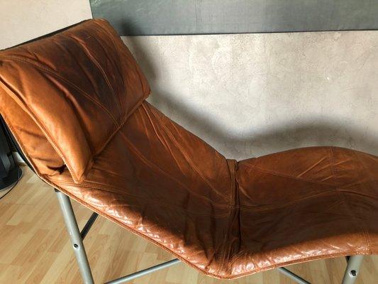 Merveilleux Vintage Cognac Leather Lounge Chair By Tord Bjorklund For Ikea