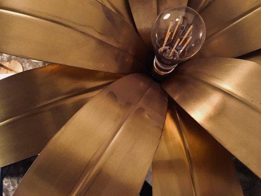 High Palmera Floor Lamp in Brass by