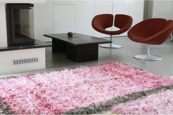 Teppich Rosa Flauschig.Flauschiger Marokkanischer Boucherouite Teppich In Pink 1970er