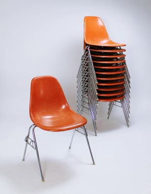 outlet store bd3ec 0d78c Vintage DSS Stacking Chair by Ray & Charles Eames for Herman Miller
