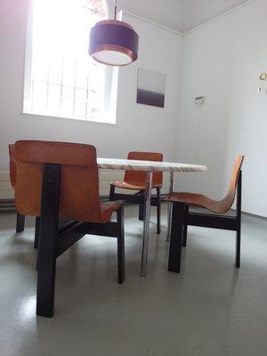 Mesa de comedor grande de mármol de Carrara de Estelle & Erwin ...