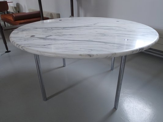 Large Carrara Marble Dining Table By