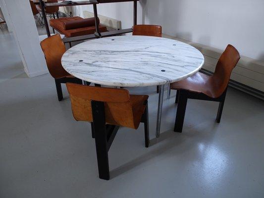 Tavolo da pranzo grande in marmo di carrara di estelle & erwin