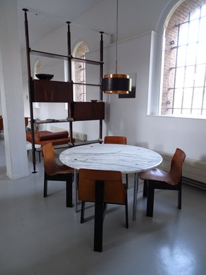 Large Carrara Marble Dining Table By Estelle Erwin Laverne For