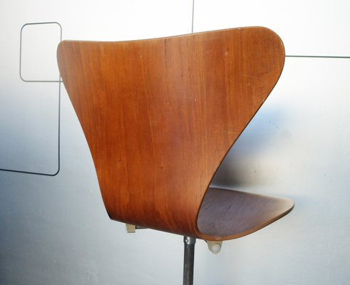 Excellent Vintage 3117 Teak Swivel Chair By Arne Jacobsen For Fritz Hansen 1969 Customarchery Wood Chair Design Ideas Customarcherynet