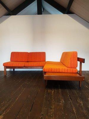 Set di divani componibili in due pezzi vintage di Guy Rogers