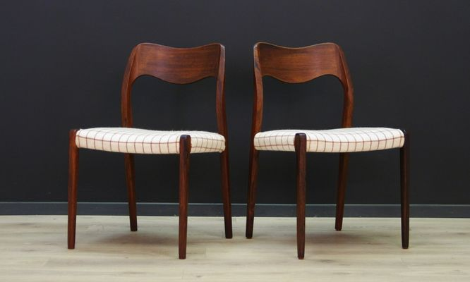 Vintage Rosewood Chairs By N. O. Møller For Farstrup, Set Of 2 1