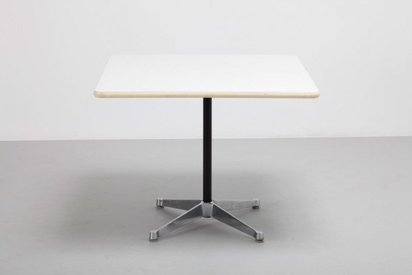 Dining Table With White Top By Charles Ray Eames For Herman Miller 1970s For Sale At Pamono