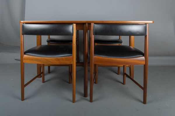 Table De Salle A Manger Et 4 Chaises Vintage En Teck De Mcintosh En