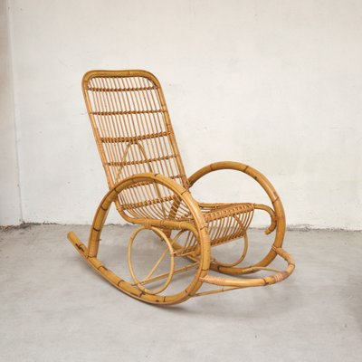 Rattan Rocking Chair 1960s