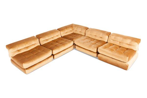 Prime Vintage Mah Jong Modular Sofa In Gold Velvet From Roche Bobois Interior Design Ideas Tzicisoteloinfo