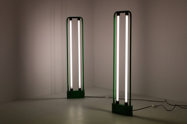 huge selection of 3eeda 87c25 Vintage Gigante Green Neon Floor Lamp by Gian Nicola