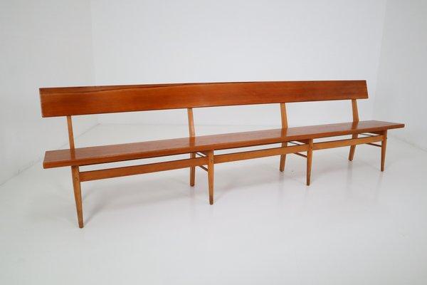 Pleasing Large Mid Century Scandinavian Wooden Bench Lamtechconsult Wood Chair Design Ideas Lamtechconsultcom